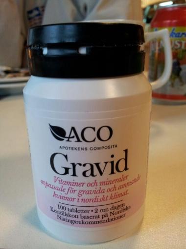 vitaminer vid graviditet