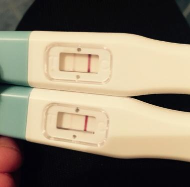 Gravid fast negativt test