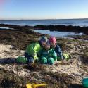 Familj: Mina pojkar på stranden