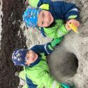 Familj: Bus på stranden