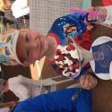 Familj: Hugo skulle också ha en stor glass haha
